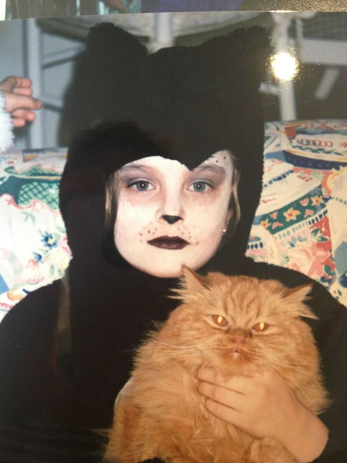 This Wasn't For Halloween... I Dressed Up Like This Every Day After I Came Home From School And Danced To The Musical 'Cats' For About A Year