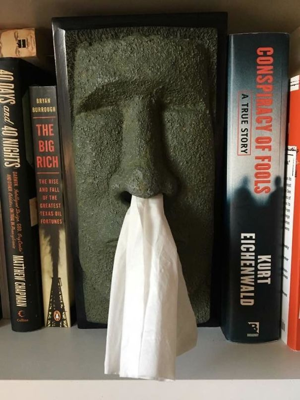 Easter Island Head Tissue Box For $3 At Goodwill