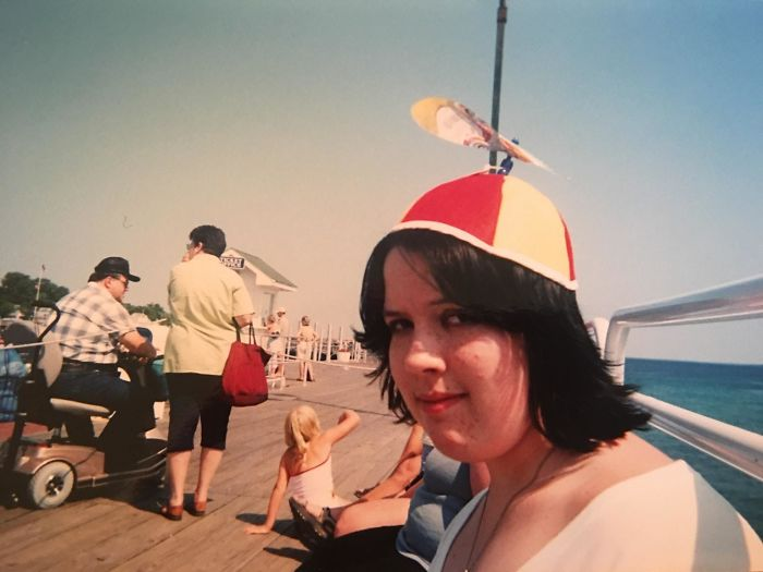15-Year-Old Me... Emo With Propeller Hat On Mackinac Island, MI