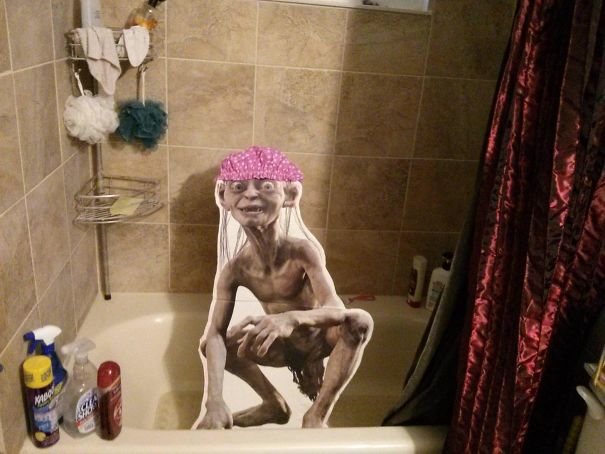I Found A Smeagol Cutout At A Flea Market. I Live With Two Other People. Let The Games Begin
