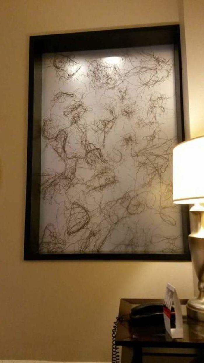 """""""Arte"""" en el recibidor del hotel"""