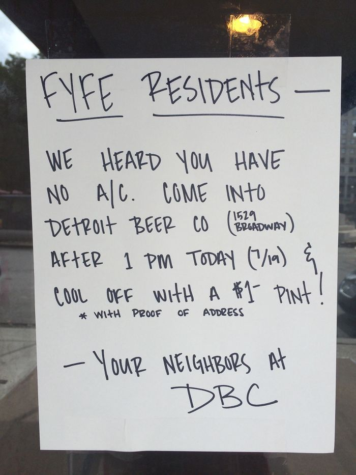 Local Bar Noticed My Building's A/C Went Out. They Decided To Help Out