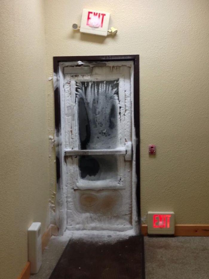 Hace mucho frío en este hotel de Minnesota