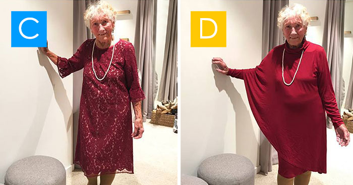 93-Year-Old Bride Asks The Internet To Help Her Pick Her Wedding Dress: A, B, C or D?