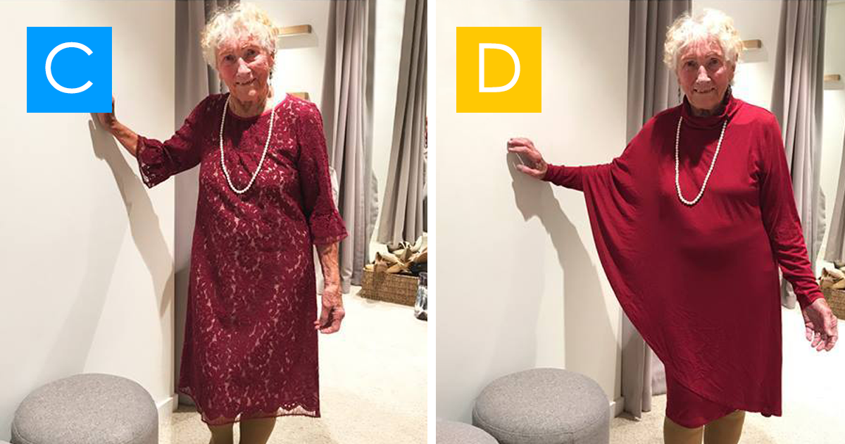 93 Year Old Bride Asks The Internet To Help Her Pick Wedding Dress A B C Or D