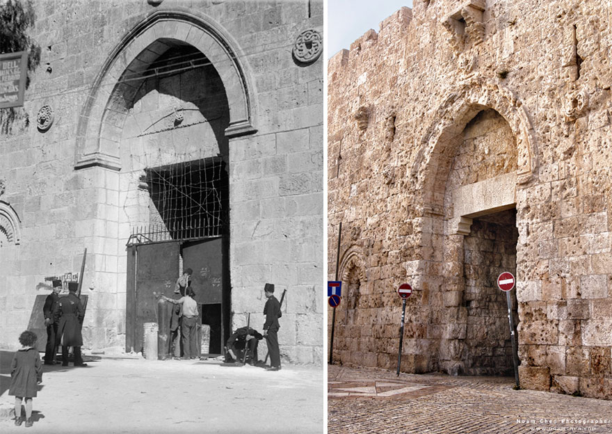 Zion Gate: The Main Entrance Gate To The Jewish Quarter In The Old City
