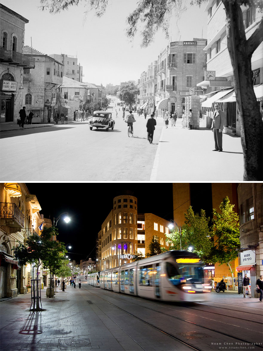 A Scene From Jaffa Road: Jerusalem's Main Street, Used To Be The Leading Route Between The Old City Of The Jerusalem To The Port City Of Jaffa. Today It's Lined Up With Shops And Restaurants
