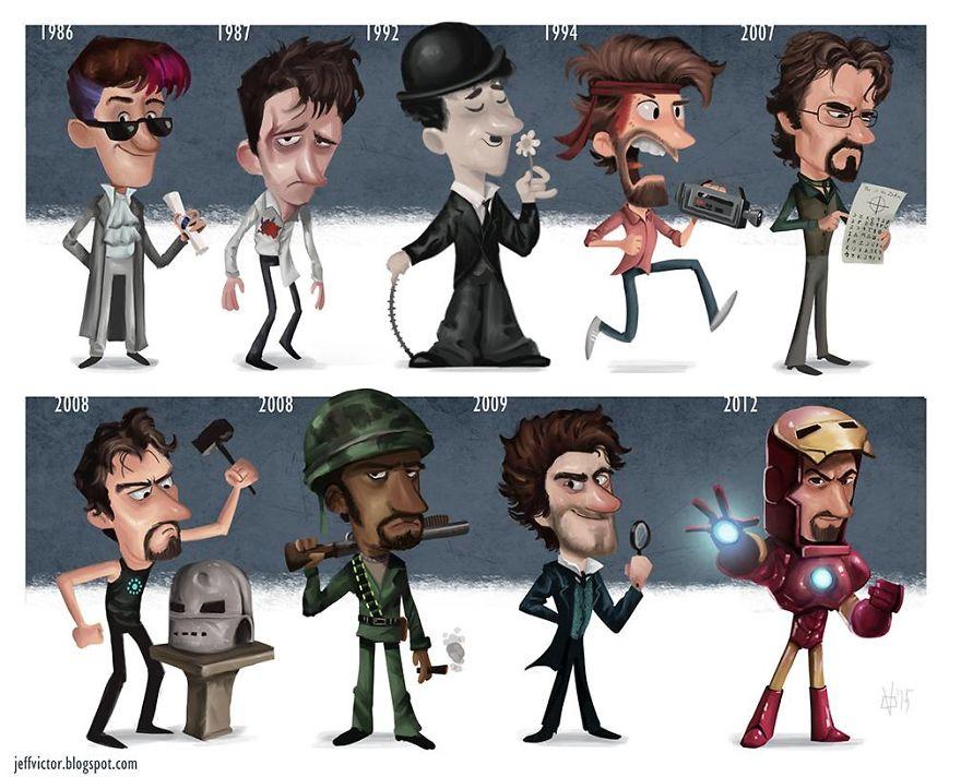 The Evolution Of Robert Downey Jr.