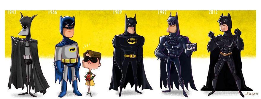 The Evolution Of Batman