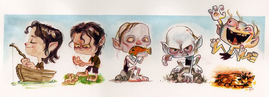 The Evolution Of Gollum