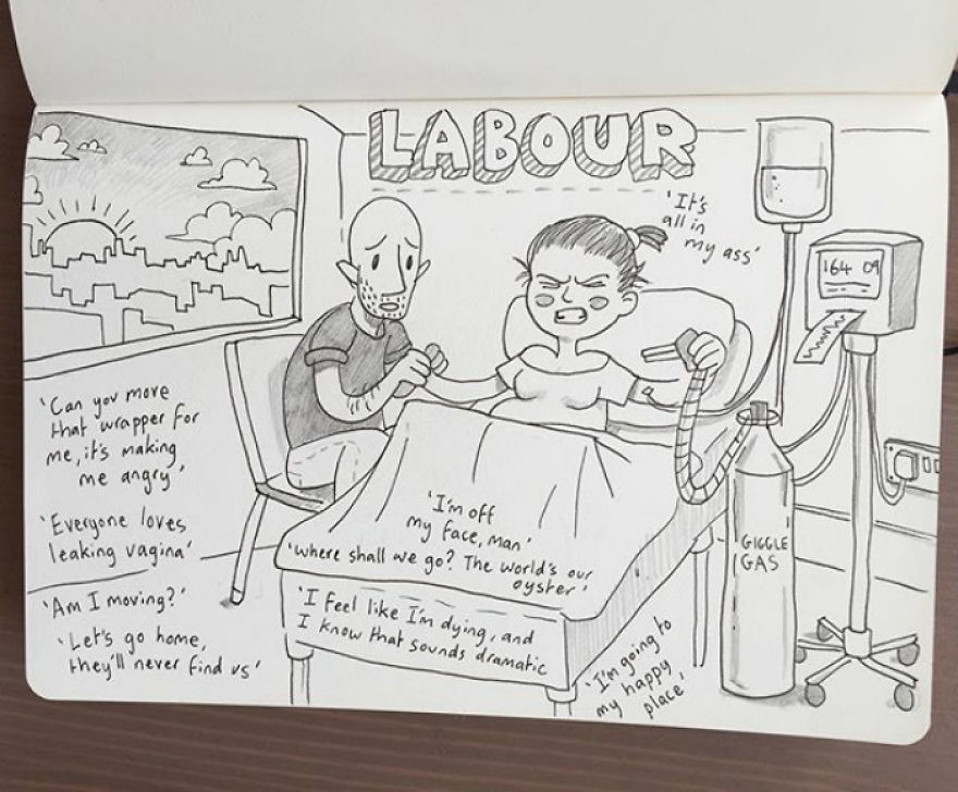 Over 30 Hours Of Labor Summed Up In One Illustration. You Did Brilliantly Kellie. I Love You
