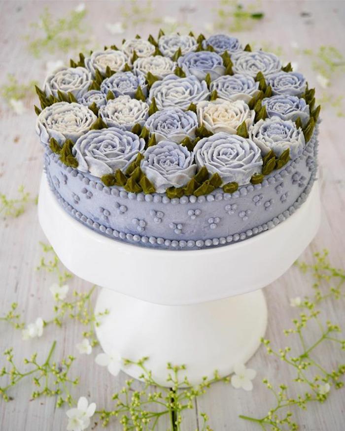Floral Vegan Cake