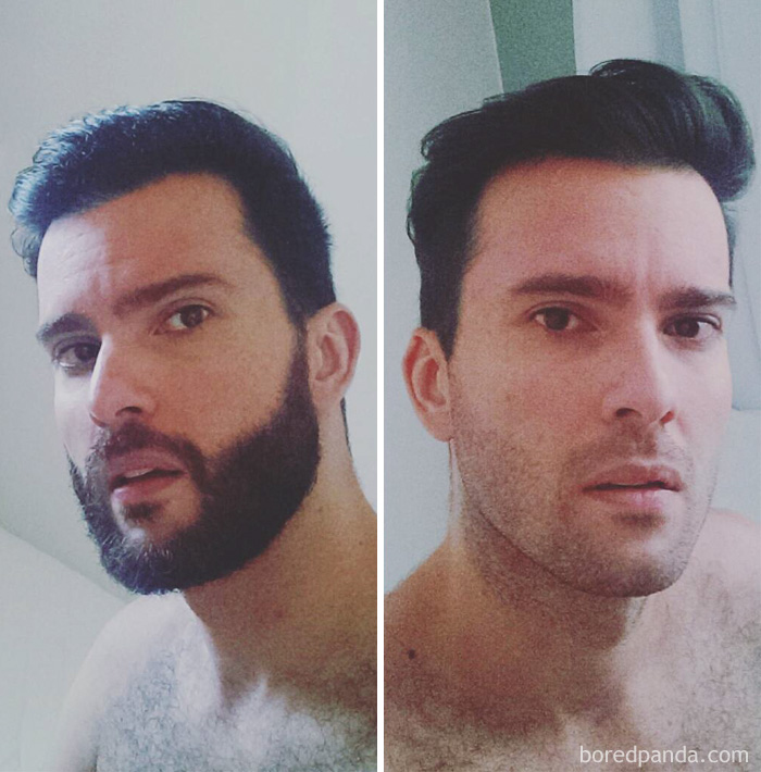 Before And After Shave