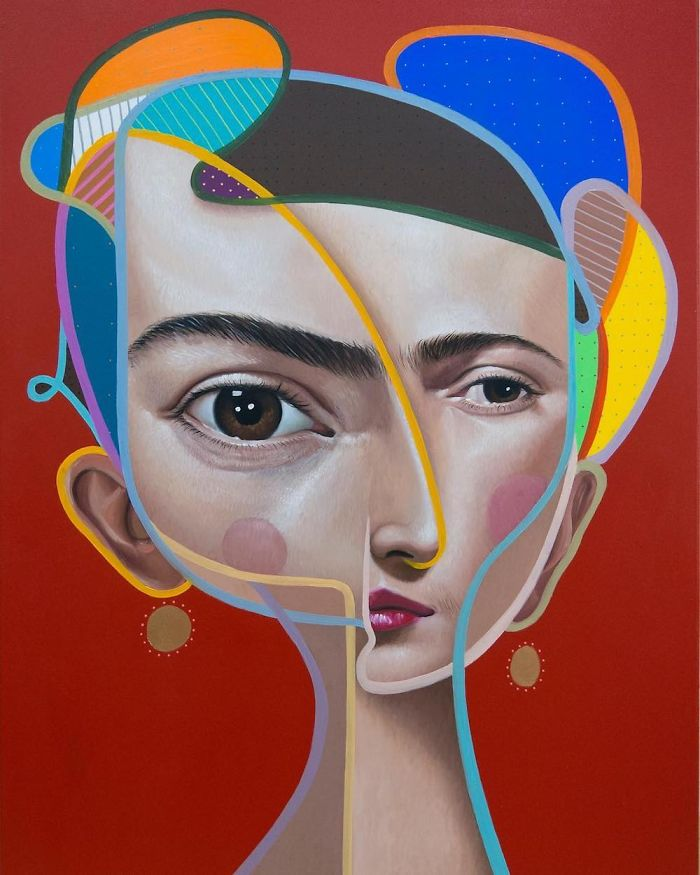 New Paintings Combining Cubist And Realistic Elements By 'Belin'
