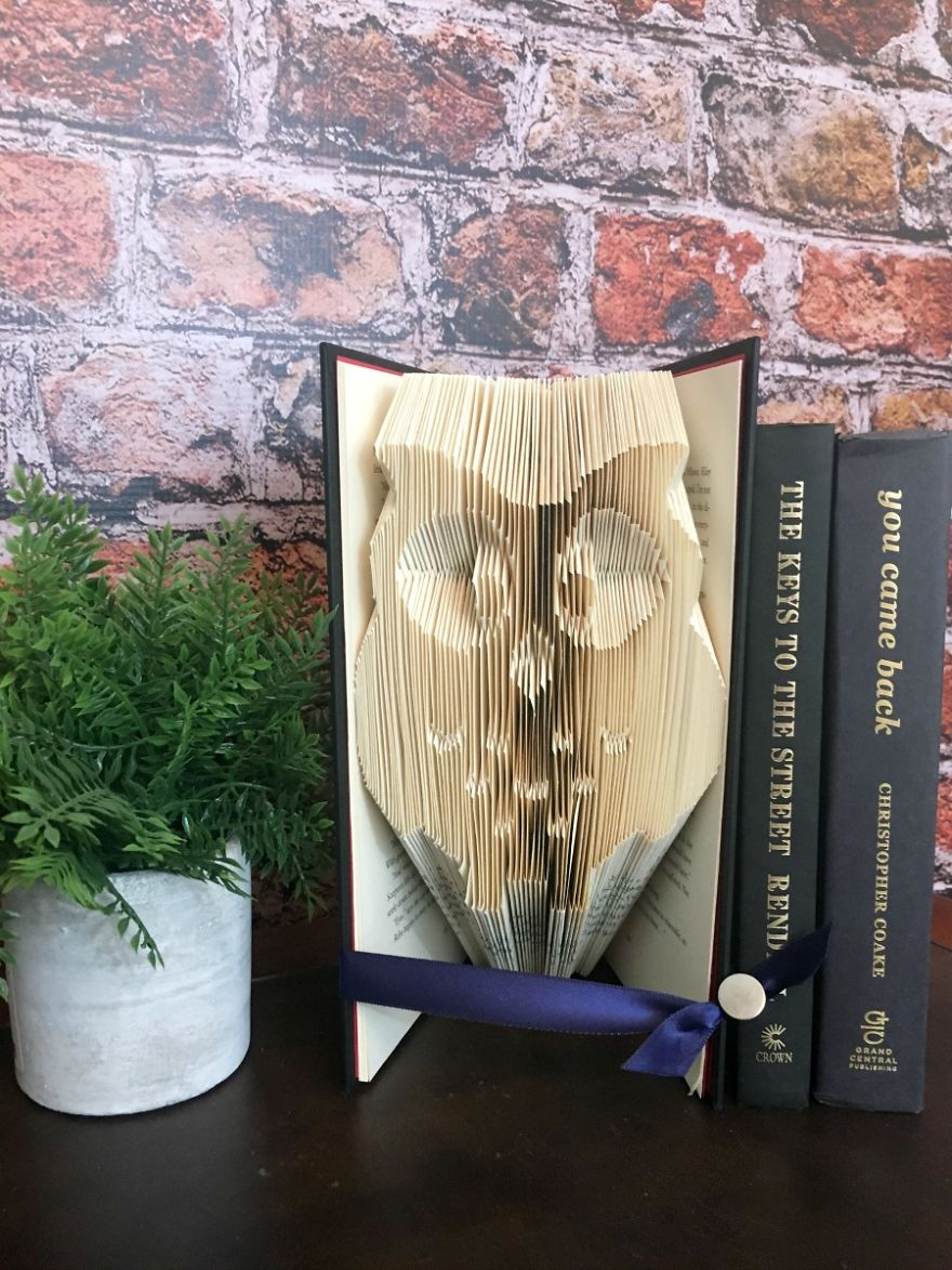 Owl Book Fold Art