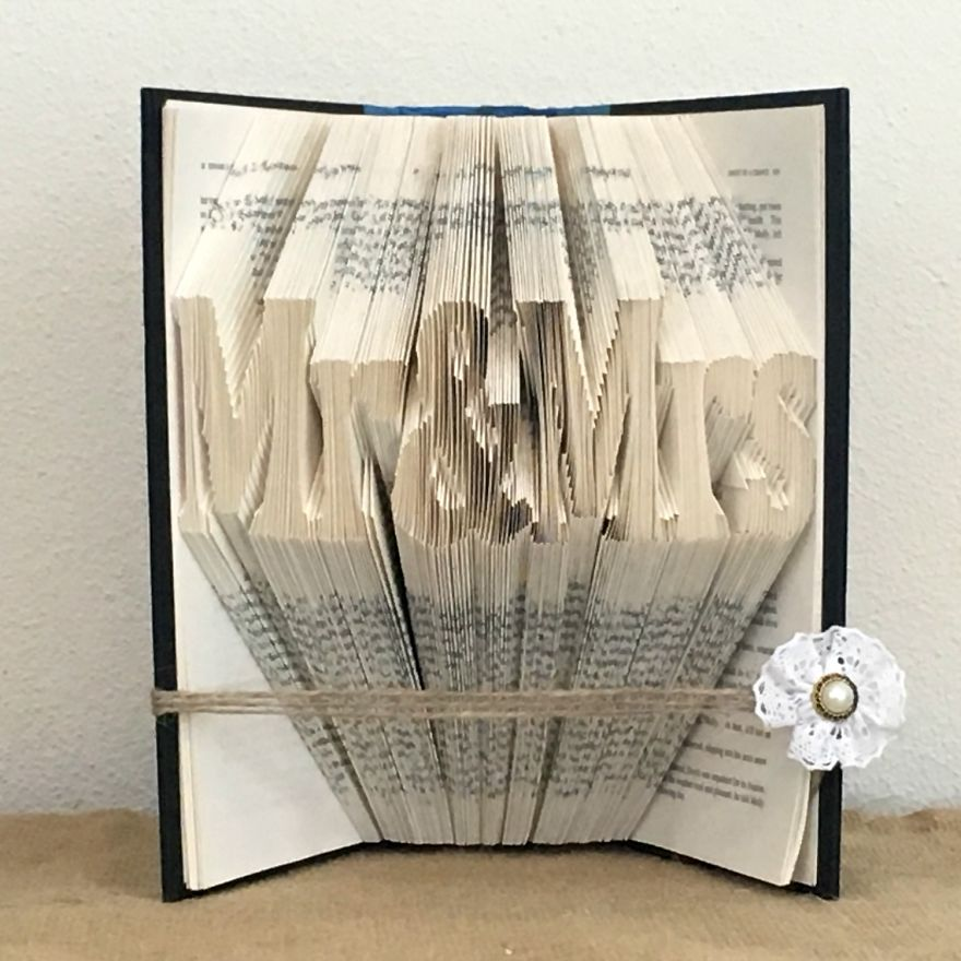 Mr & Mrs Book Fold