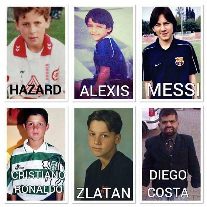 Football Stars In Childhood