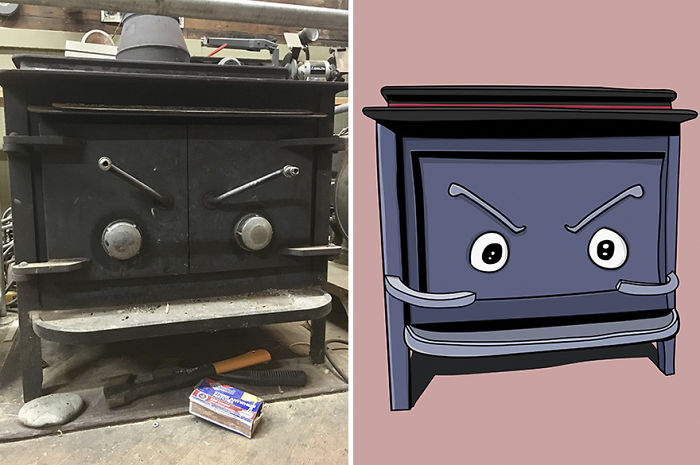 I Have Pareidolia, And I Create Characters Out Of The Faces I See.