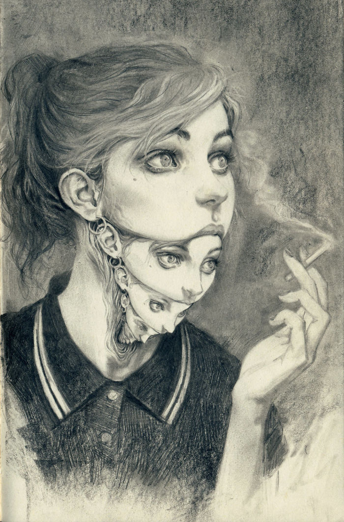I Love To Try And Capture Dream Like Images In Pencil