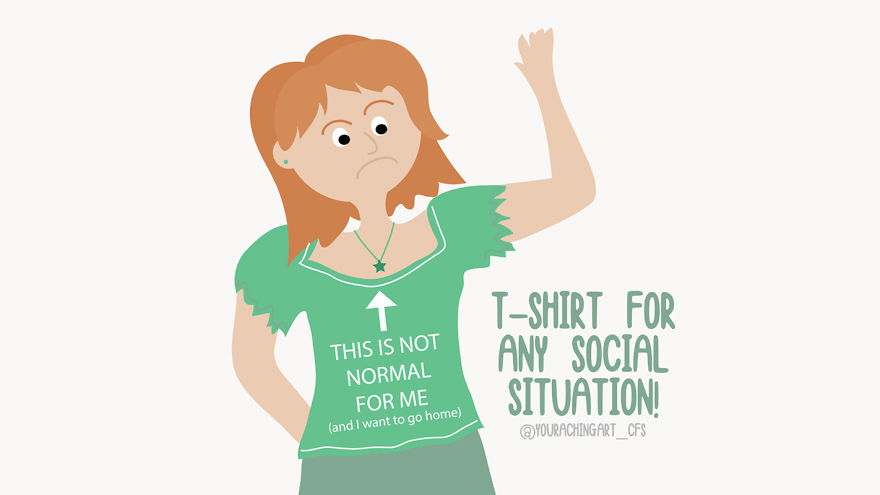 I Make Light-hearted Illustrations Showing How It Feels To Live With Chronic Fatigue, Chronic Migraine And Anxiety