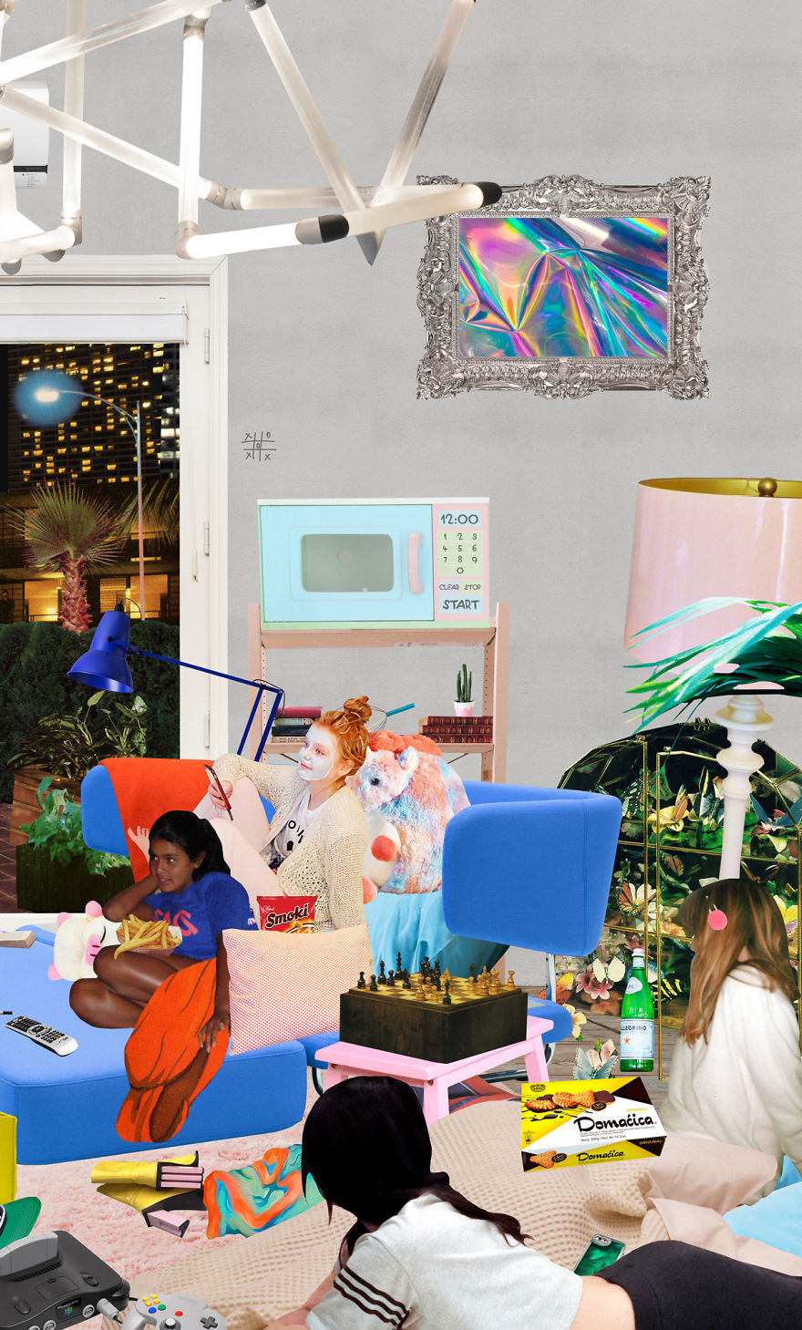 I Spent Two Months Making This 4-story Apartment Collage