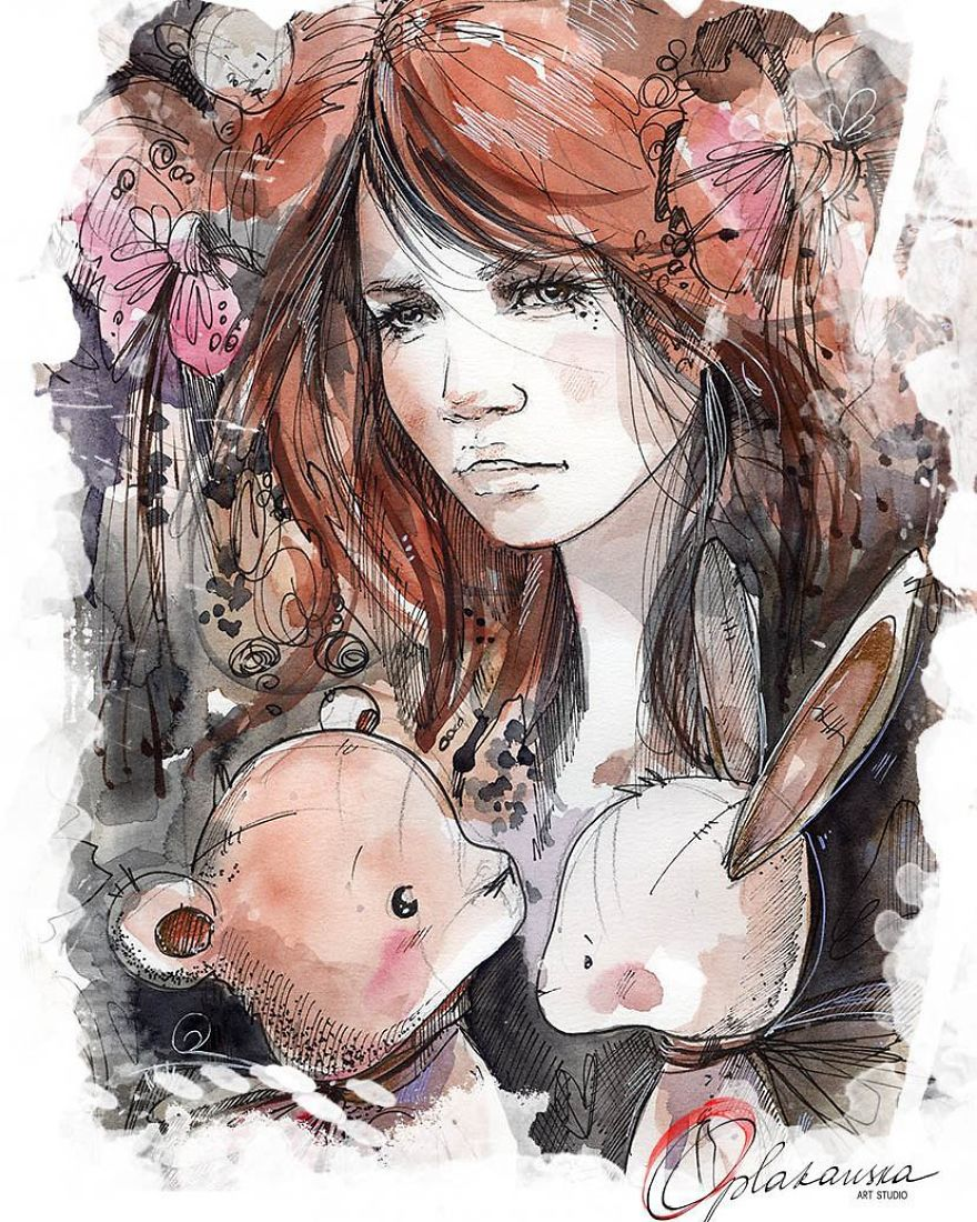 I Travel Through Fairy Tales And Create Illustrations