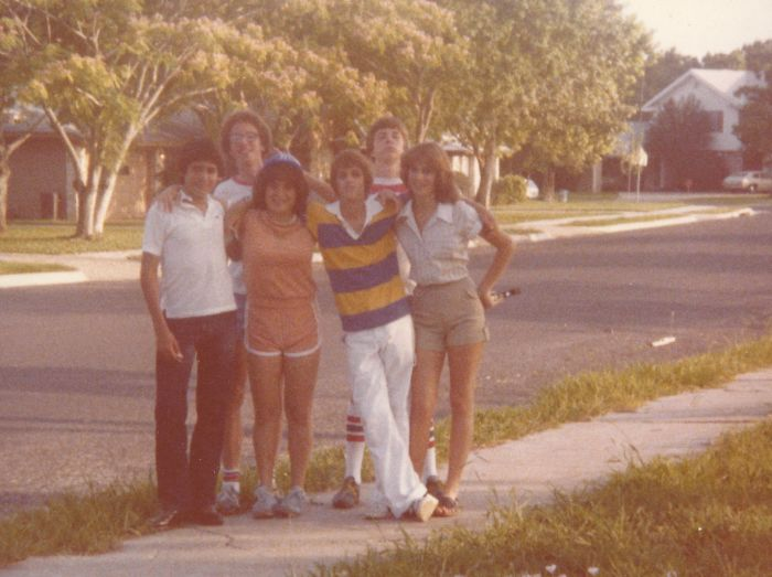 Taken In 1980.  I'm The One In The Peach Terrycloth Short Set Complete With A Bad Perm And A Plastic Baseball Cap. 🤢