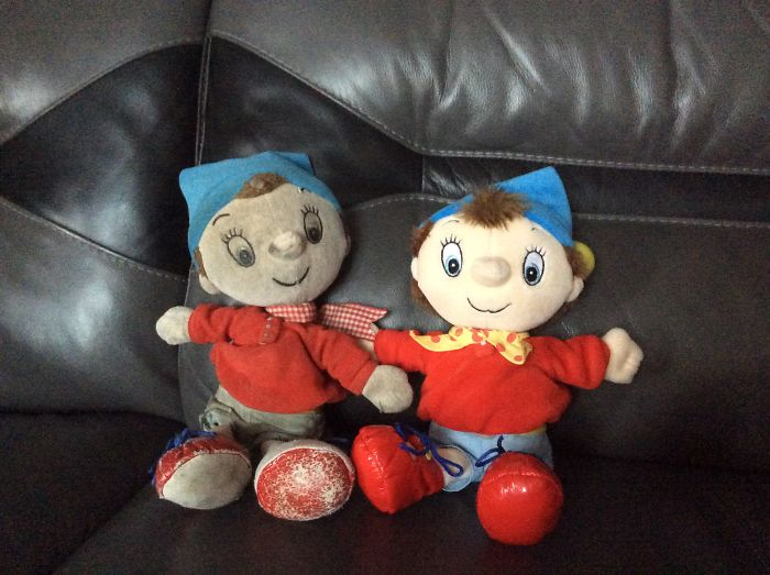 18 Year Old Noddy Toy And What It Should Look Like If Wasn't So Loved