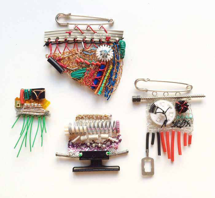 I Make Brooches By Knitting Cables