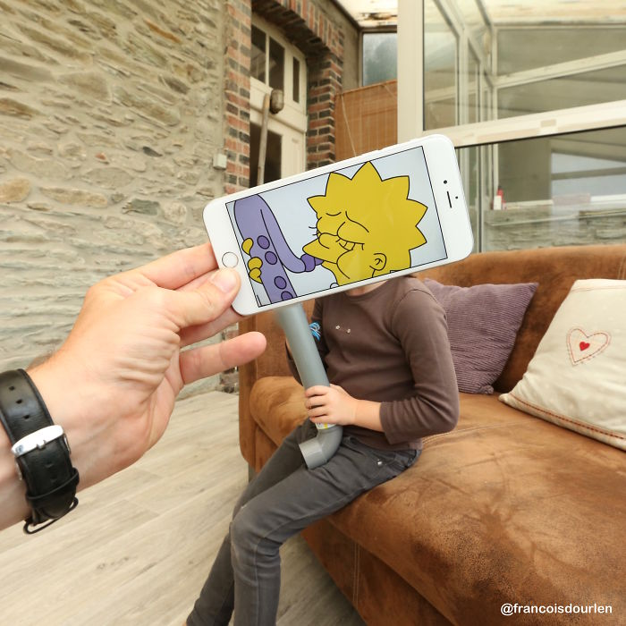 I Insert Simpsons Characters Into Real Life Situations Using My Iphone
