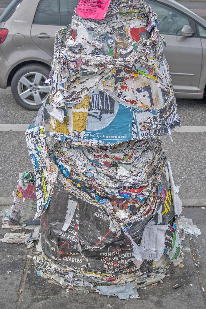 Poster Pile-up On Warschauer Straße, Berlin