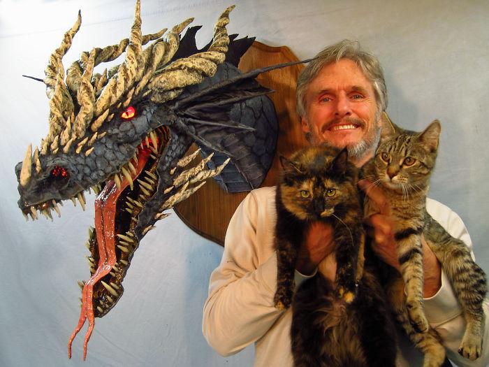 I Make Paper Mache Dragons!
