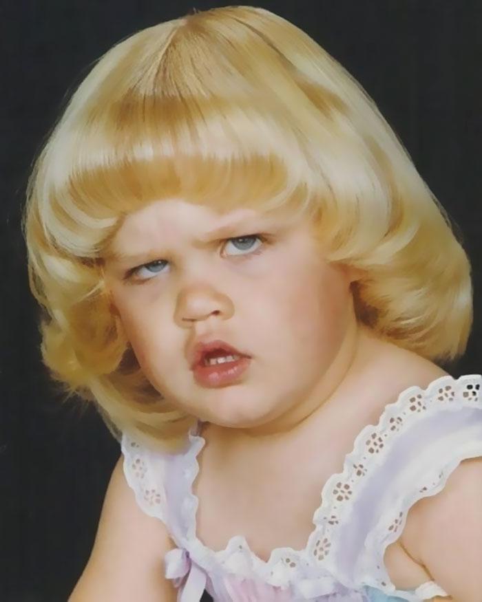 Es la foto infantil más rara que hay