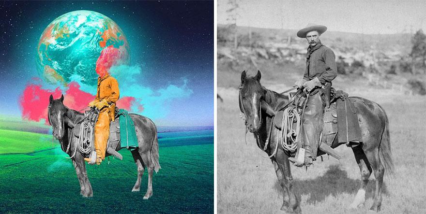 Reviving Vintage Photographs Into Trippy Digital Art