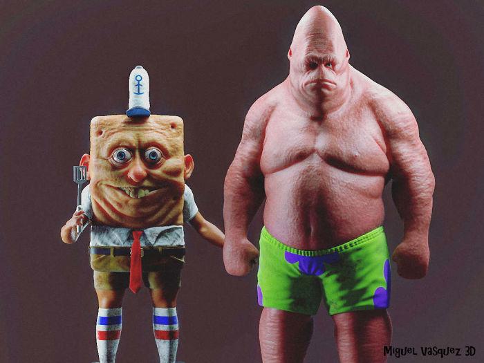 Realistic Version Of Spongebob And Patrick