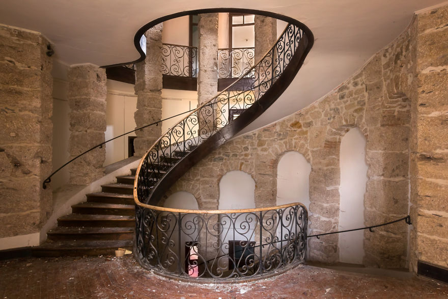 Abandoned Staircase In France