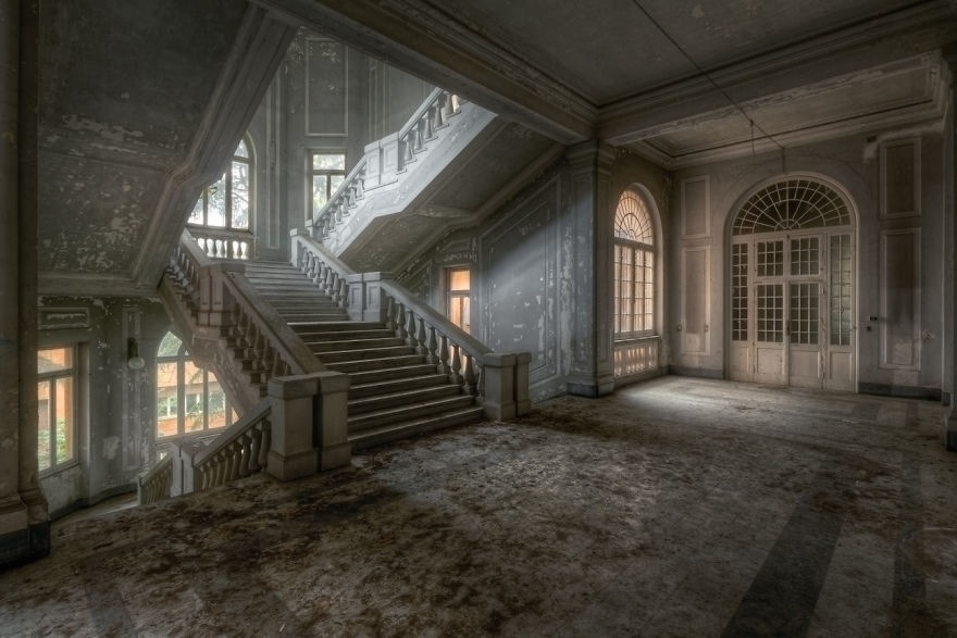 Abandoned Staircase In Italy