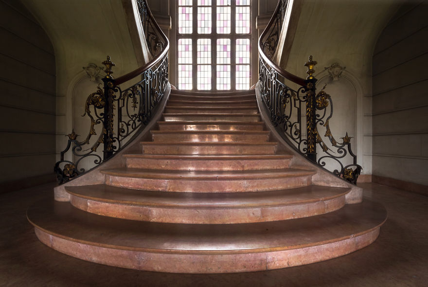 Abandoned Staircase In Belgium