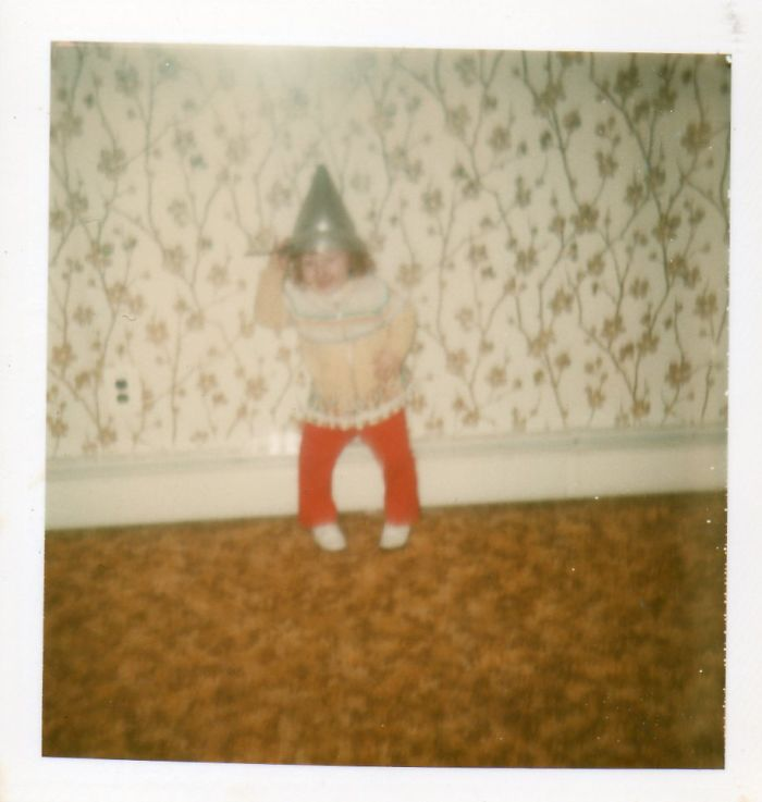 1980: I Was 2, No Idea Why I Decided To Put A Colander On My Head! (i Had Bowed Legs Too, Corrective Surgery Fixed That.)