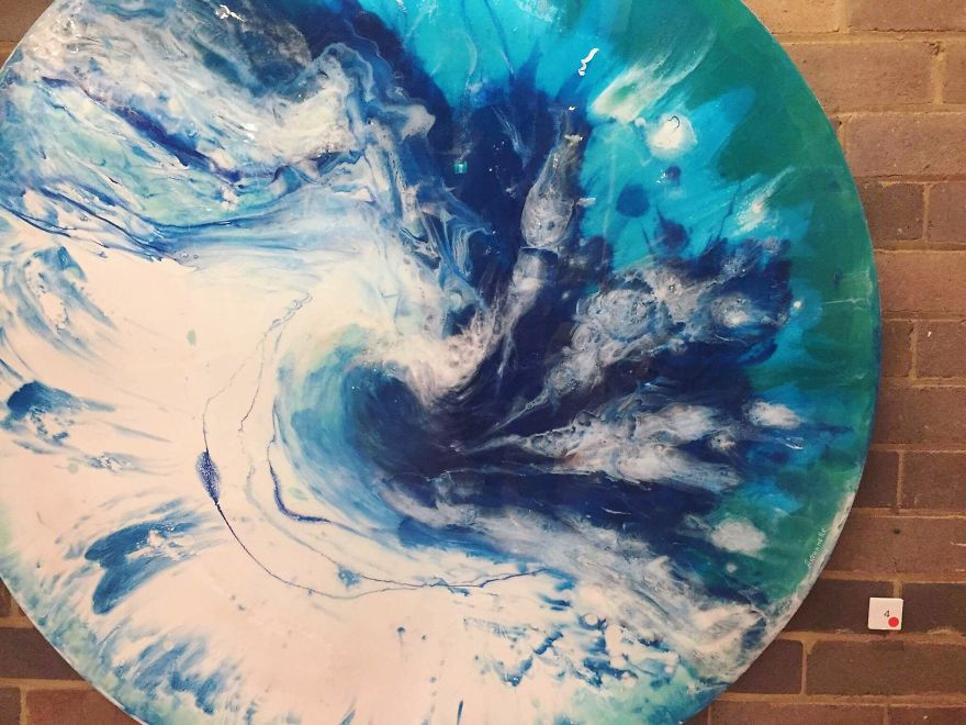 I Use Mineral Crystals And Seashells To Create Abstract Seascapes