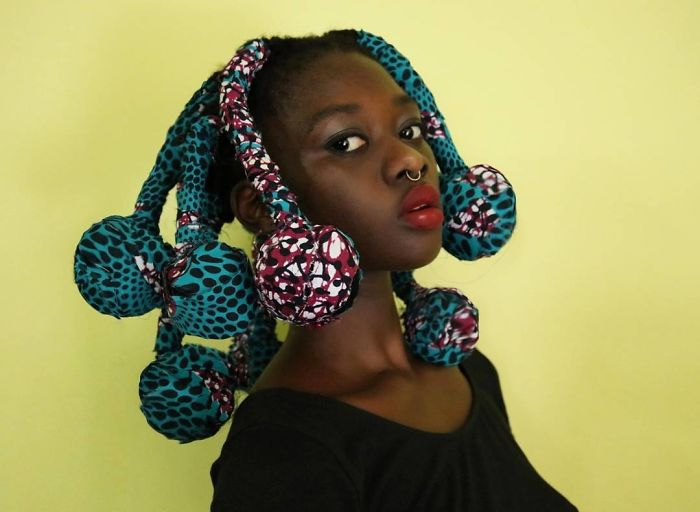 The Ivorian Artist Sculpts Her Hair To Match The Expressions In Her Mind