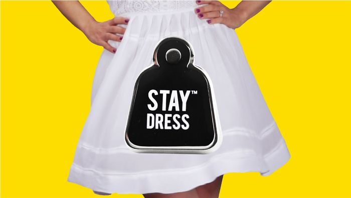 Stay Dress Pins Help To Keep Dresses Down In The Wind, Because We're Cheeky Enough!
