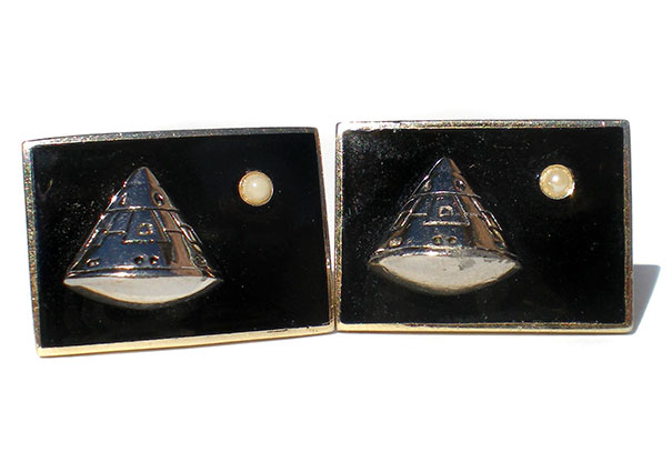 Salvation Army Find. Apollo 11 Cuff Links, The Exact Same Pair Are On Display At The National Air And Space Museum, Smithsonian Institution