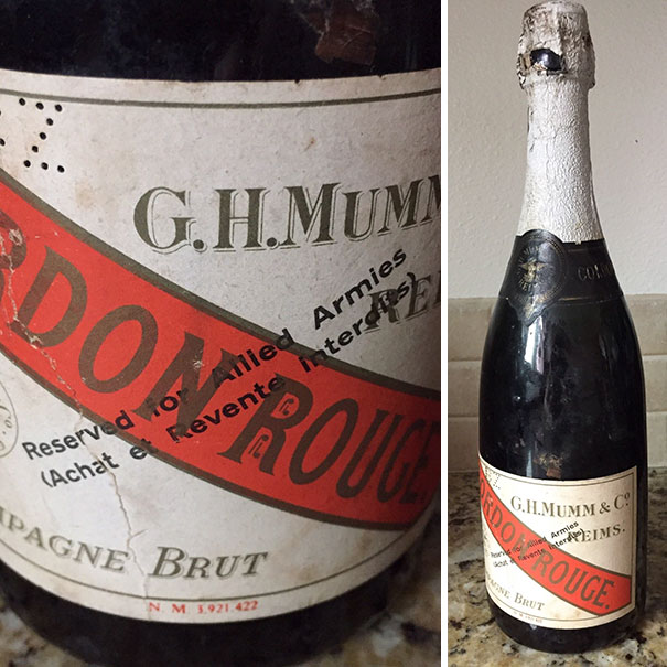 WW2 Champagne. Found At A Garage Sale