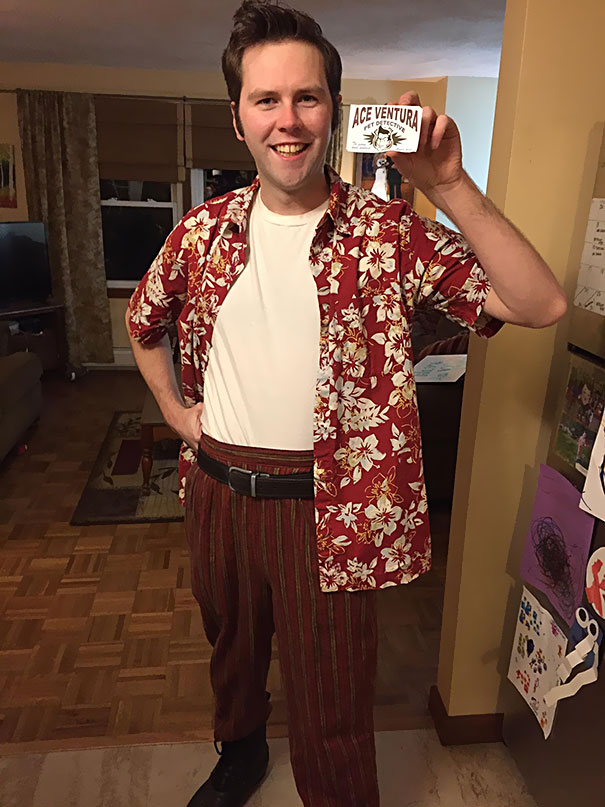 Thrifted My Costume For A Party: Pants $3, Hawaiian Shirt $5