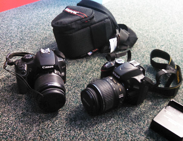 $12.99 For A Nikon D3200 And $9.99 For A Cannon Eos Rebel Xs. Both Basically Brand New. Thanks Goodwill!