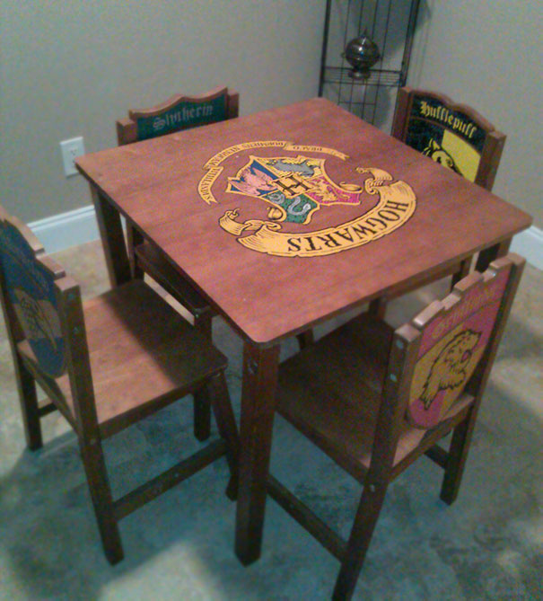 My Favourite Goodwill Find. A Harry Potter Table
