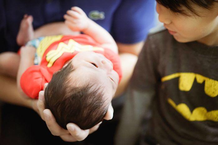 Wonder Woman Newborn Photo Shoot