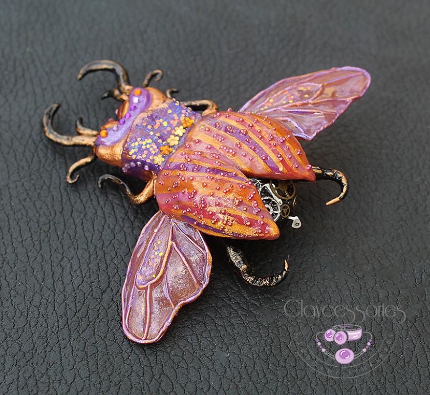 I Create These Magical Beetles From Polymer Clay