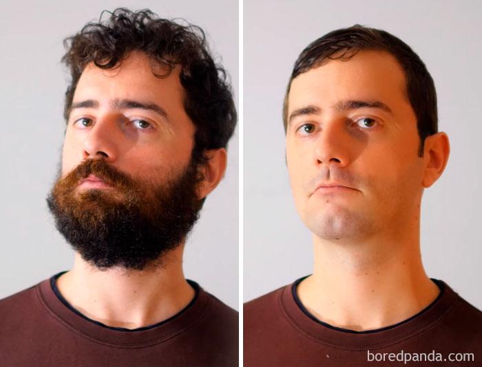 beard shaved moustache